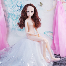 2019 New 15 Moveable Jointed BJD Dolls 1/3 60cm Female Naked Nude Girl Doll Body with Shoes Accessories Dolls Toy For Girls цена