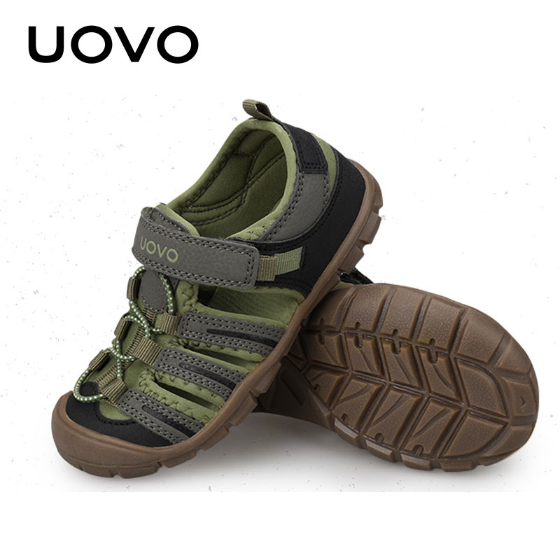 Summer Anti skid Beach Shoes High Quality Sandals Toddler Baby Sandals Uovo Brand Boys Closed Toe Fashion Sneakers Size 28 32