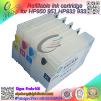 Fee Shipping Refillable Ink Cartridge With Chip For Hp 950 951 Cartridge Use On Hp Officejet