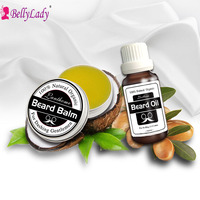 BellyLady Natural Ingredient Multi Functional Men Care 30g Beard Hair Wax 20ml Beard Oil Essence Organic