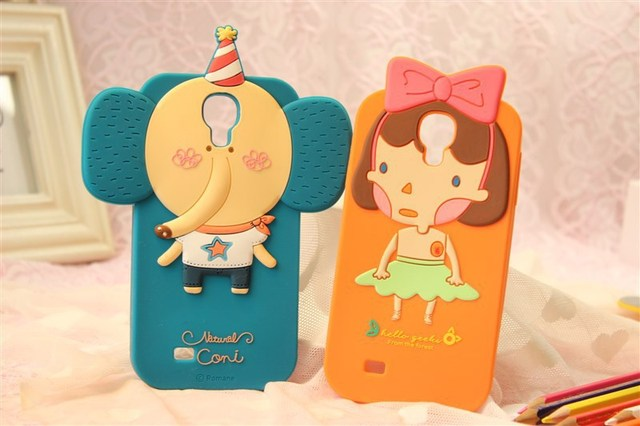MOMO's Blog 3D Cute Cartoon Silicone Case Cover For Samsung Galaxy S4 I9500 ,retail package Free Shipping 30pcs/lot