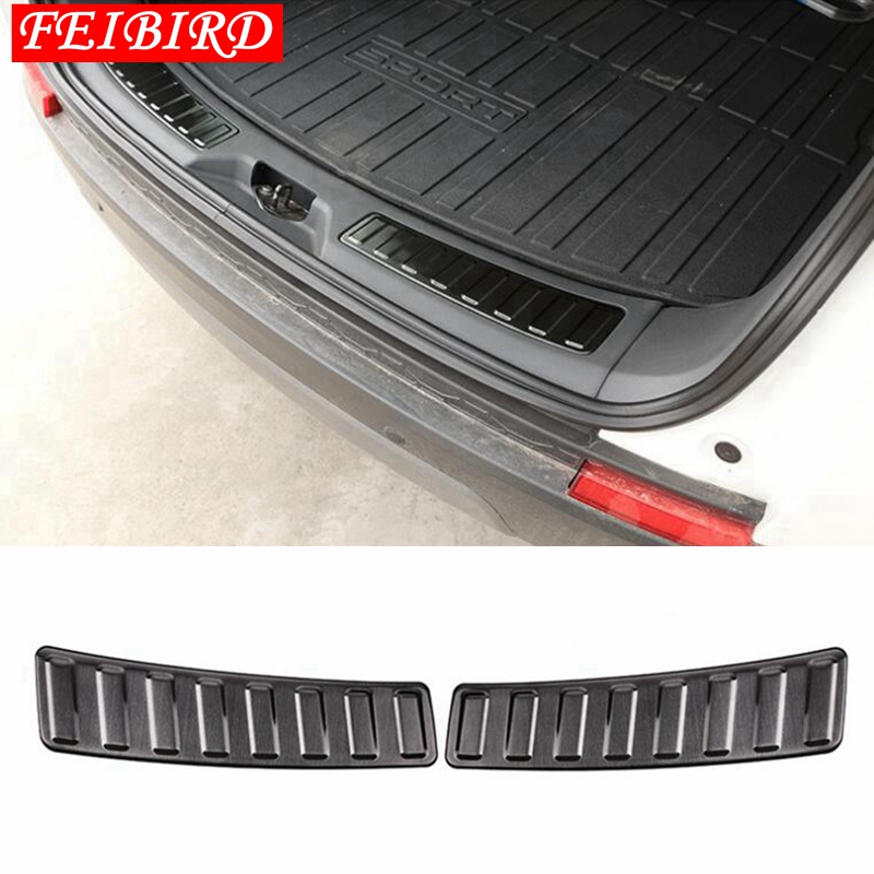 Image 3 - 304 Stainless Steel Rear Inner Door Bumper Protector Door Sill Plate Trim For Land Rover Discovery Sport 2015 2016 2017 2018-in Interior Mouldings from Automobiles & Motorcycles