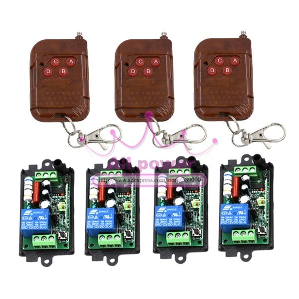 NEW AC220V 1CH RF Wireless Remote Control System / Radio Switch remote switch 220v Learning code receiver hot sales 220v 1ch rf wireless remote switch receiver