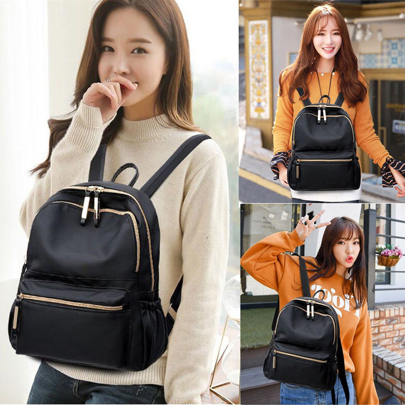2019 New Brand Fashion Women Waterproof Oxford Cloth Travel Backpack Nylon Anti-theft Double Shoulder