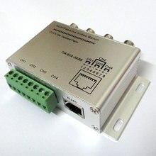 UTP 4CH channel Passive Video Balun BNC CCTV Transceiver Receiver Cat5 RJ45 active Adapter