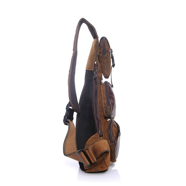 half moon chest bags waterproof canvas men crossbody messenger bags