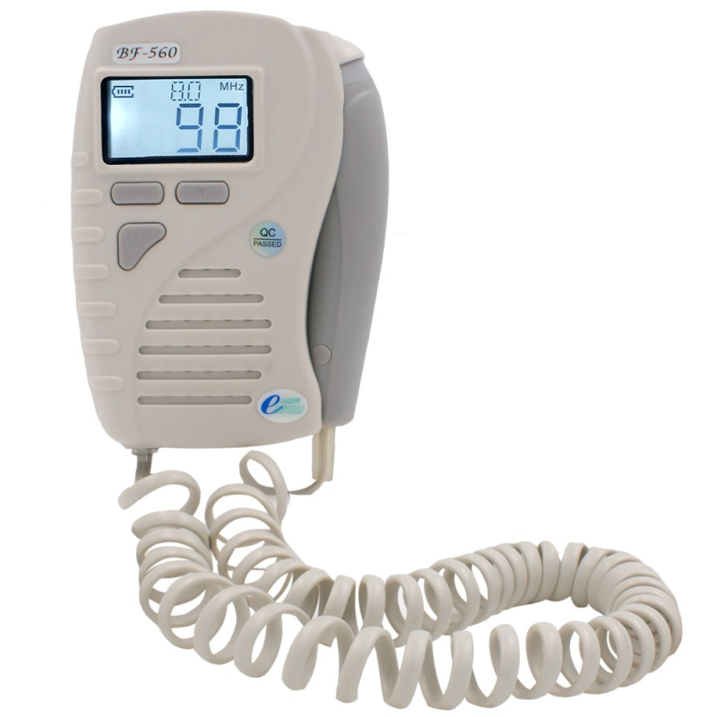 8Mhz probe configuration pocket vascular doppler white backlight lcd display detect blood flow rate ultrasound doppler vascular