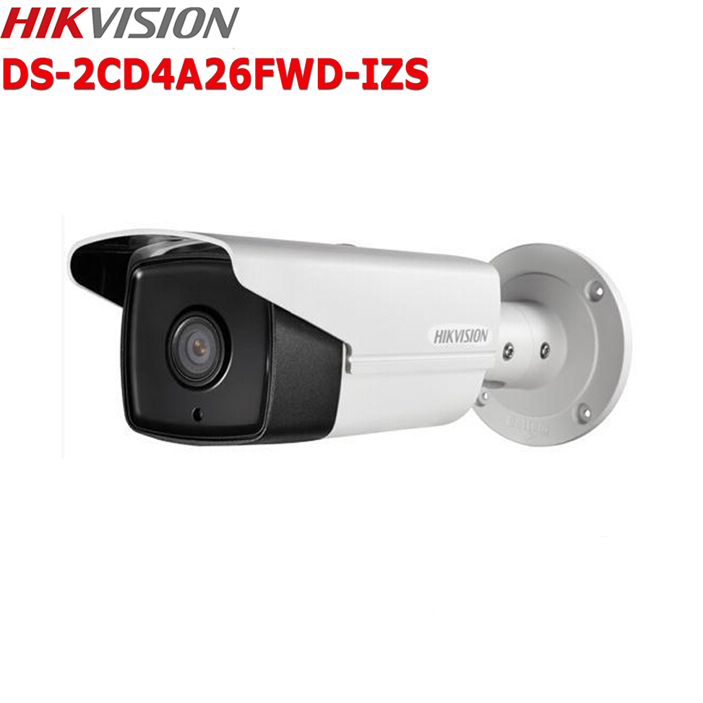 Hikvision DS-2CD4A26FWD-IZS 2MP IP Camera 2.8-12mm Zoom IP67 Low Light Smart Security CCTV Camera hikvision 3mp low light h 265 smart security ip camera ds 2cd4b36fwd izs bullet cctv camera poe motorized audio alarm i o ip67