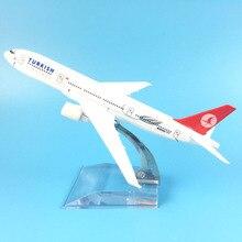 16 CMTURKISH AIRLINER 777 TURKISH AIRLINES металлический сплав модель самолета Модель игрушки самолет подарок на день рождения