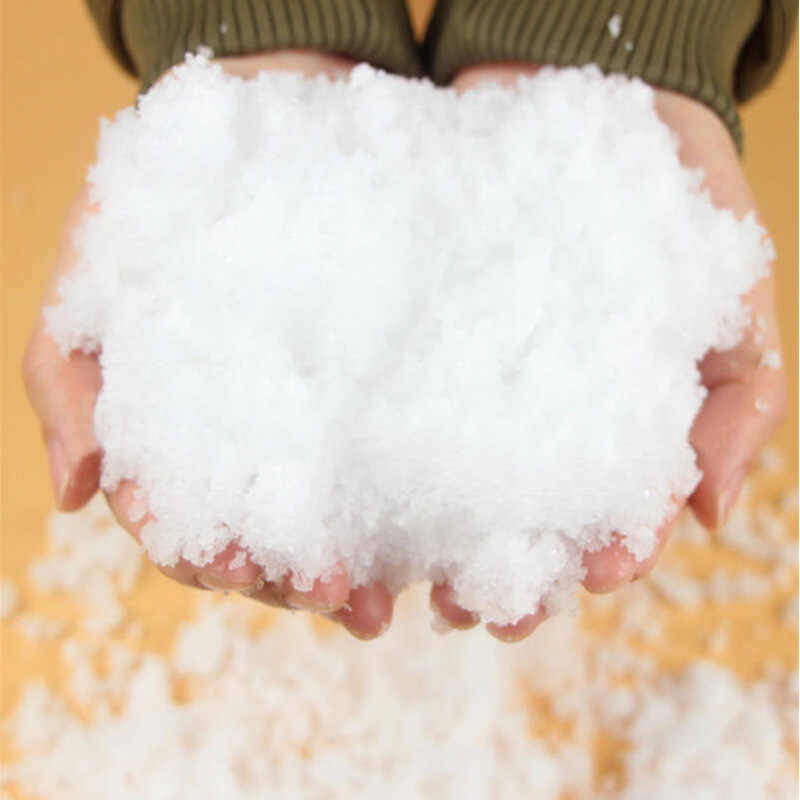 1 Pack Artificial Snow Instant Snow Powder Flu 2018 Winter Decoration White Snowball For Children Snowball Fight New Arrivals