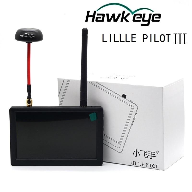 Hawkeye little pilot iii 5 인치 5.8g 40ch fpv hd 모니터 사진 안테나가있는 공중 fpv 디스플레이 디스플레이 모니터-에서부품 & 액세서리부터 완구 & 취미 의  그룹 1