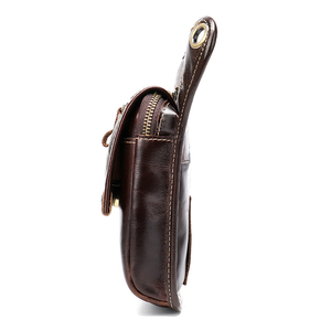 Image 4 - MVA Leather Funny Waist Packs Drop Leg Bags Belt Pouch Mens Motorcycle Leg Bag Genuine Leather Phone Pouch Male Hip Packet 3237