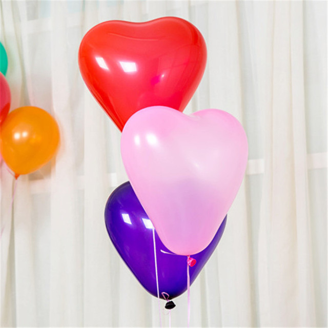 10Pc Red Pink Balloons 10Inch Love Heart Latex Balloons Wedding Helium Balloon Valentines Day Birthday Party Inflatable Balloons 3