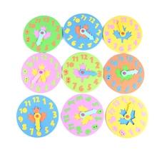 DIY Eva ЧАСЫ Обучающие Развивающие игрушки забавная головоломка игра для детей Детские игрушки Подарки 3-6 лет