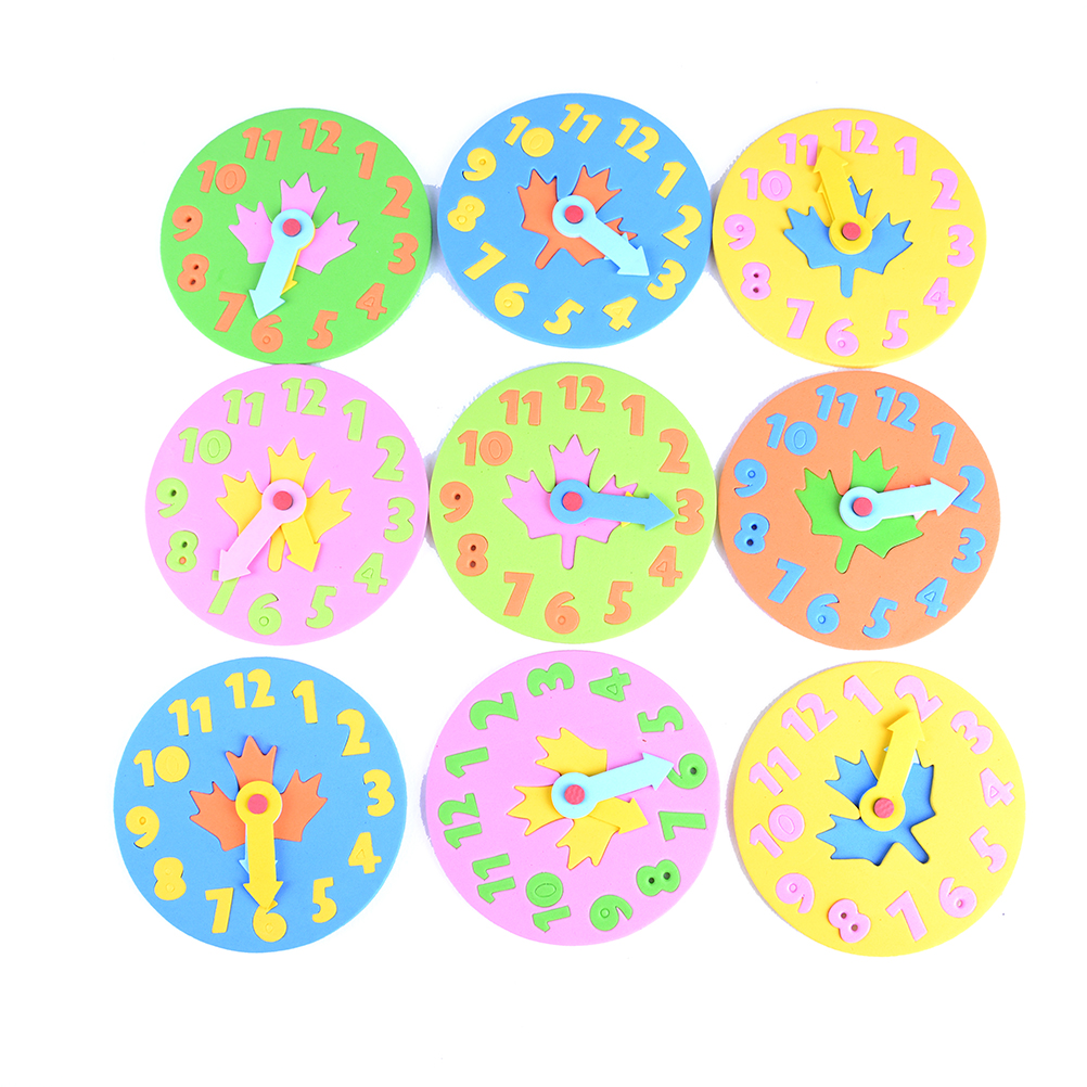 DIY Eva Clock Learning Education Toys Fun Jigsaw Puzzle Game For Kids Children Baby Toy Gifts 3-6 Years Old