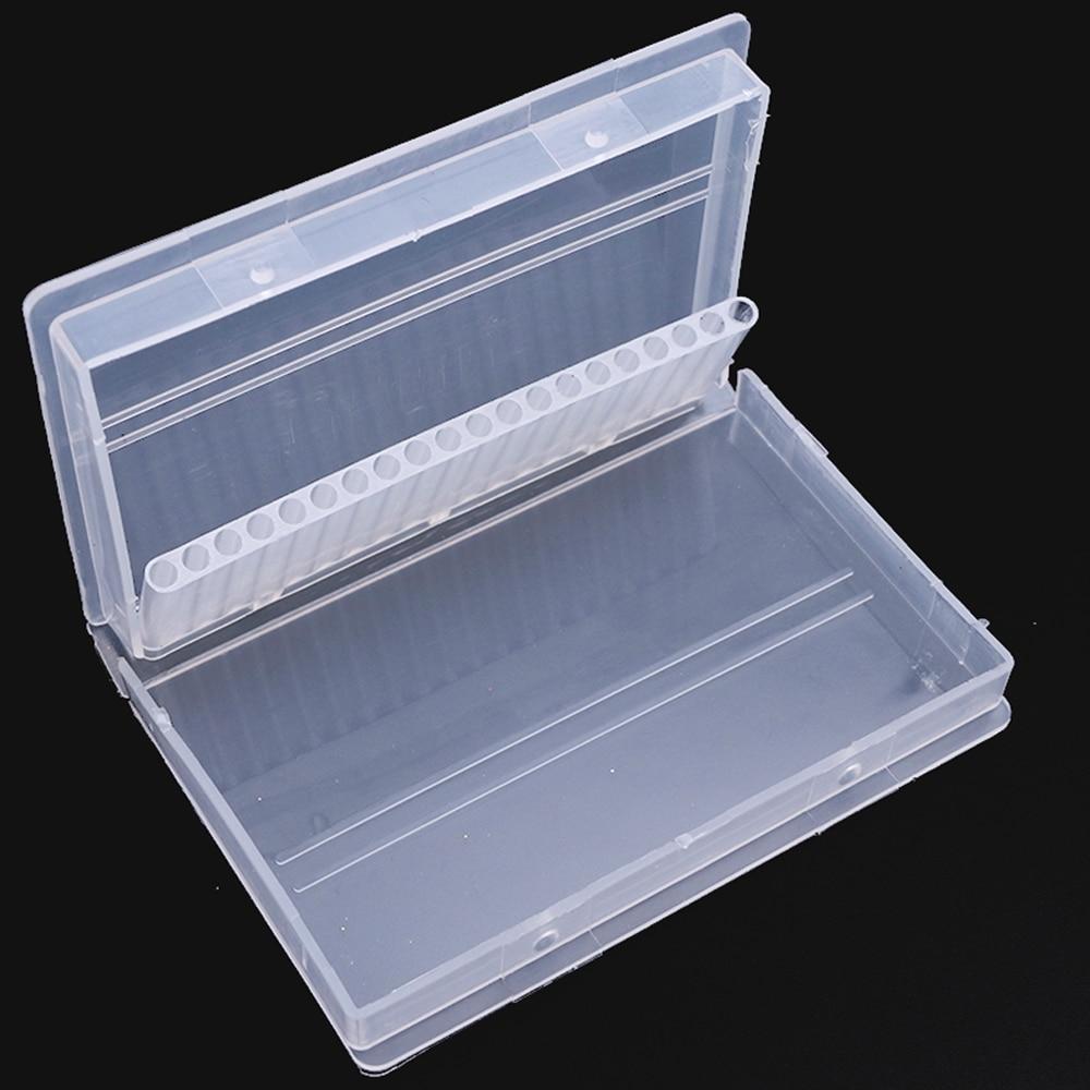 1 Pc 20 Löcher Nagel Schleifen Leere Lagerung Box Nagel Bohrer Bits Display Transparent Container Halter Organizer Maniküre Werkzeuge Saa35 Noch Nicht VulgäR