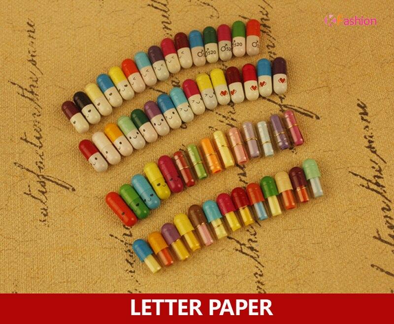 800pcs / lot , Creative capsule love letter paper , Mini blank message letter as secret / love letter paper