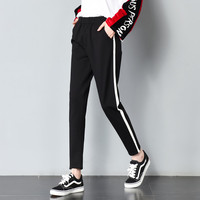 Women 2018 Fashion Brand Pantalon Femme Side Stripe Sweatpants Hip Hop Streewear Trousers Casual Loose Lady