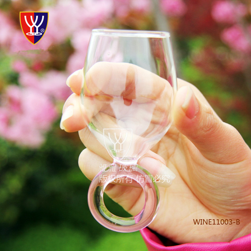 Hot Ing Creative Wine Gl Cup Shot Crystal Lord Of The Rings Ring
