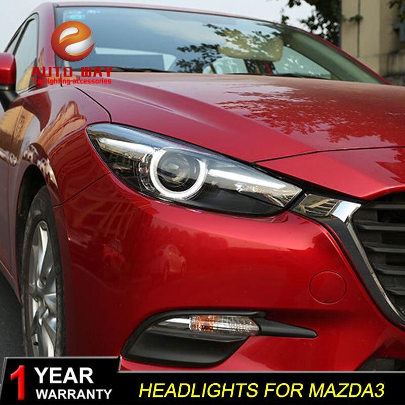 Գլխի լամպի պահոց Mazda 3 M3 Axela Mazda3 2017 2018 - Ավտոմեքենայի լույսեր - Լուսանկար 5