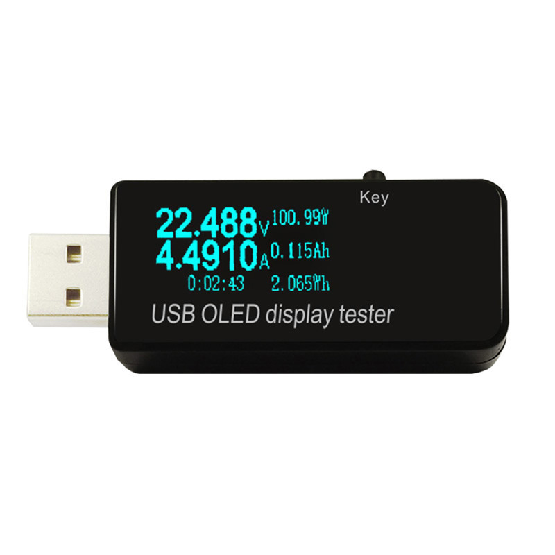 OLED USB Tester DC Voltmeter Current Voltage Meters Battery Capacity Monitor Qc3.0 Phone Charger Detector usb multi function tester usb current voltage charger detector battery tester voltmeter ammeter h7