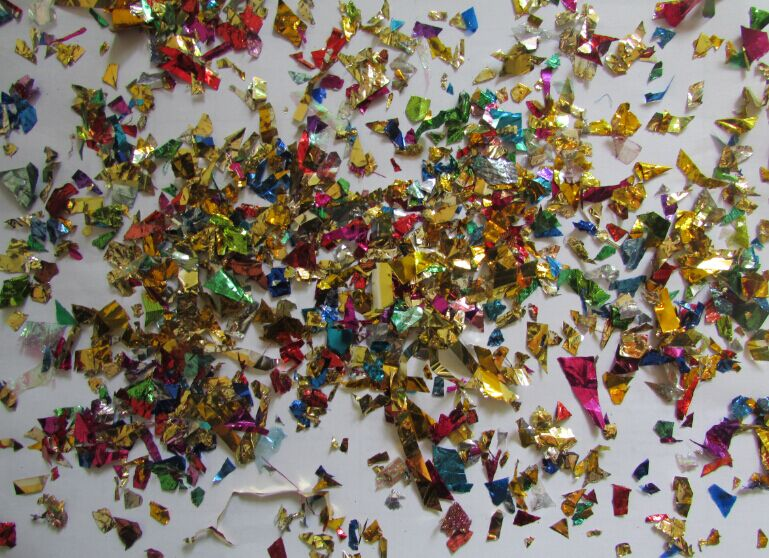 500 غرام لكل كيس رقائق ملونة قصاصات النثار ورقة احباط تمزيقه