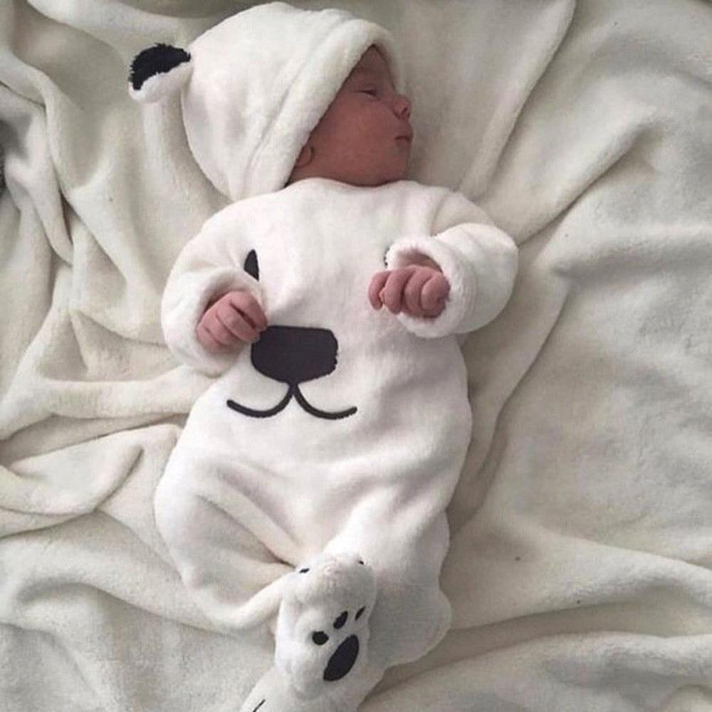 MUQGEW 3Pcs Newborn Baby Girl Boy Clothes Cartoon Tops Pants Outfits Fluffy Winter Warm Clothes Roupa De Bebe Infantil