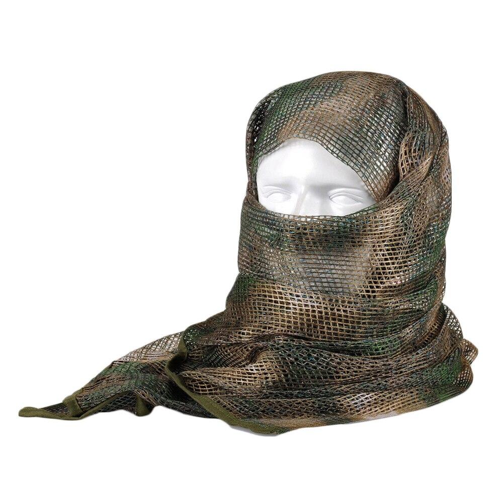 Vehemo хлопок оливковое маска для защиты лица полевое, для выживания шарфы для женщин тактический шарф сетчатый ветер - Цвет: jungle camouflage 1