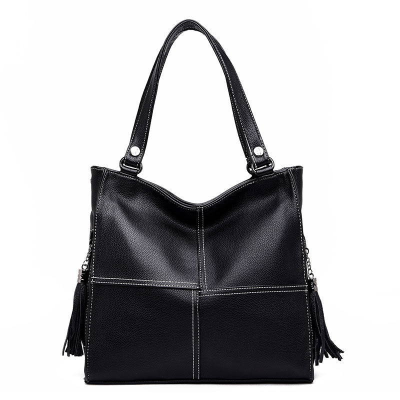 Brand Women PU Leather Handbags Large Capacity Lady Tote Bag Female Shoulder Bags Bolsas Femininas New Tassel Messenger Bags