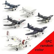 лучшая цена 6 Colors 1/48 4d Assemble military Models Toys building sets Aircraft airplane F4U carrier based plane Fighter Diecast War-II