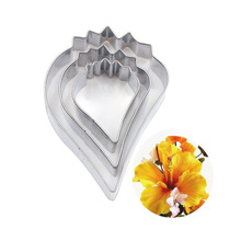 6/4.8/3.3cm Stainless Steel Hibiscus Poppy Flower Petal Cutting Mold Designer DIY Polymer Clay Craft Cutters tools