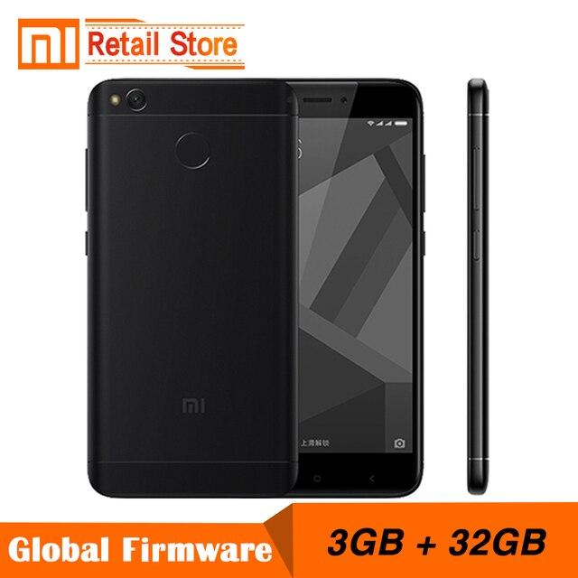 """Оригинальный Xiaomi Redmi 4X мобильный телефон Snapdragon 435 Восьмиядерный процессор 3 ГБ оперативной памяти 32 ГБ ROM 5.0 """"FHD 13MP камеры 4100 мАч смартфон"""