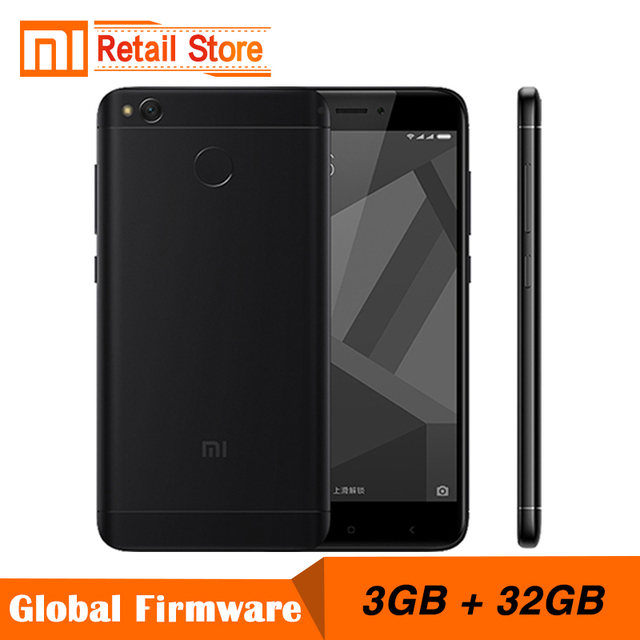 """Оригинальный Xiaomi Redmi 4x мобильный телефон Snapdragon 435 Octa core Процессор 3 ГБ Оперативная память 32 ГБ Встроенная память 5.0 """"FHD 13MP Камера 4100 мАч смартфон"""