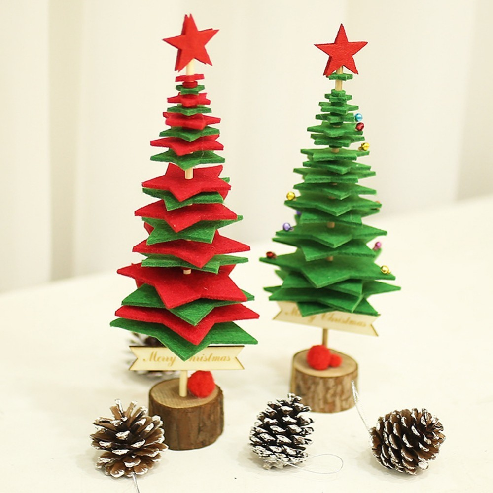 Mini Christmas Tree Snowflakes Artificial Cedar Ornaments Festival Table Miniature Ornament Home Decorations In Trees From Garden On