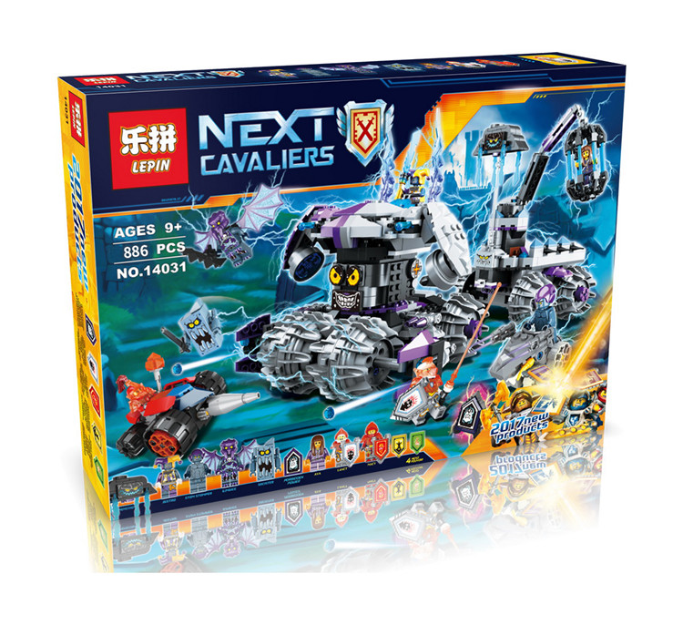 Lepin 14031 Nexus Knights Building Blocks Set Jestro\'s Monstrous Monster Vehicle Kids Bricks rus Toys Compatible 70352 new gift lepin 14004 knights beast master chaos chariot building bricks blocks set kids toys compatible 70314 nexus knights 334pcs set