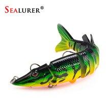 Sealurer 12.5cm 20g 9 segement Isca Artificial Pike Lure Muskie Fishing Lure Swimbait Crankbait Hard Bait Fishing Accessory 1PCS