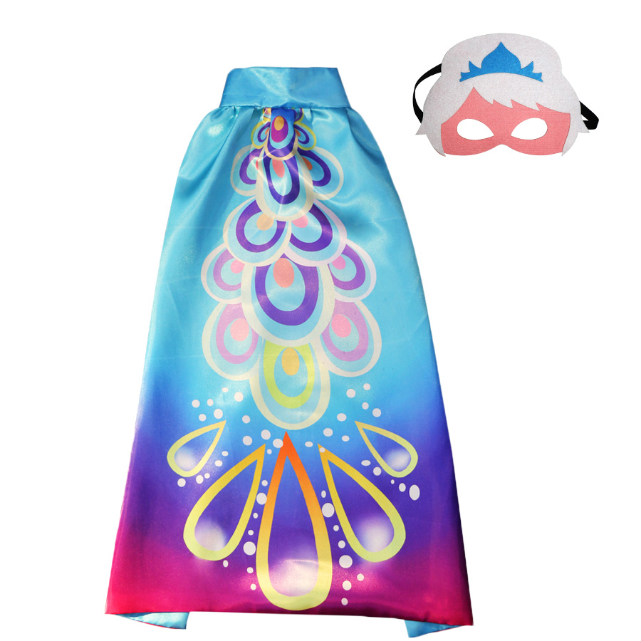 Girls Costumes Purposeful 20 Packs Special Cartoon Fairy Costume Cape Mask For Child Cape Kids Toys Princess Dress Up Dresses Kids Easter Costumes