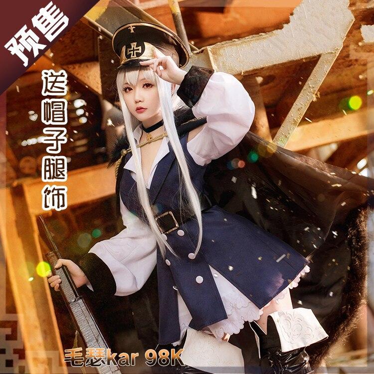 Anime! Girls Frontline Kar98K Battle Suit Uniform Cosplay Costume Custom made Size For Women Halloween Clothes Free Shipping