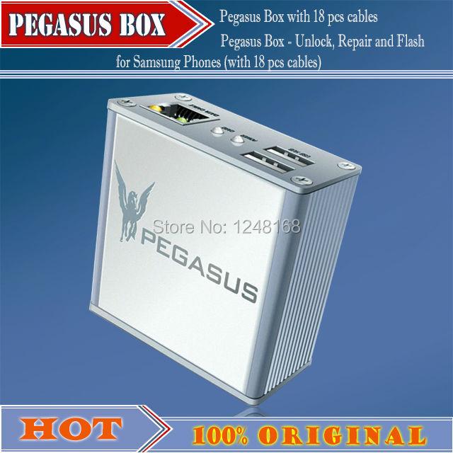 100%original 2015 new Pegasus Box - Unlock, Repair and Flash for Samsung Phones(with 18 pcs cables)+Free Shipping