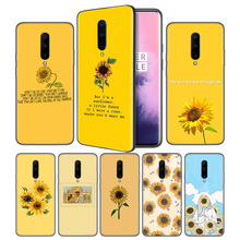 Aesthetics Sunflower Novelty Soft Black Silicone Case Cover for OnePlus 6 6T 7 Pro 5G Ultra-thin TPU Phone Back Protective
