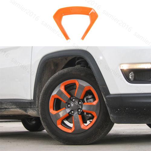 20 pc Orange ABS Fit Pour Jeep Compass 2017 Roue Ronde Décorateur Cadre Cover Version dans Chrome Styling de Automobiles et Motos