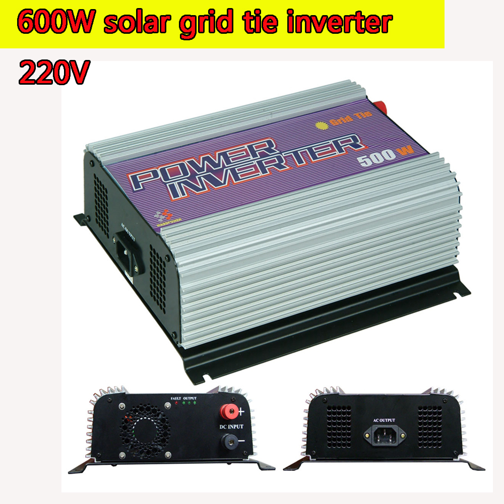 600W Pure Sine Wave Power Inverter 12V 220V  Micro Grid Tie MPPT Inverter 10.8V to 30V or 22V to 60V  Input 190V to 220V Output 600w grid tie inverter lcd 110v pure sine wave dc to ac solar power inverter mppt 10 8v to 30v or 22v to 60v input high quality