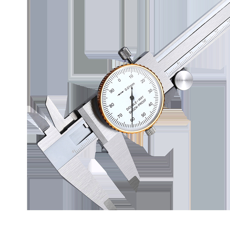 Stainless Steel High-precision Tape Gauge Caliper 0-150-200-300 Mm Industrial Grade Bi-directional Seismometer Card Package rule