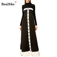RealShe Slash Neck Women Long Dress Autumn Female Vintage Dress Off Shoulder Sexy Dresses Vestidos Elegant