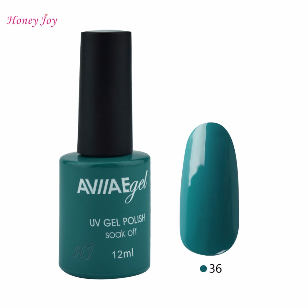 AVII Pop Dark Green Office Fashion Color Gel Nail Polish Long ...