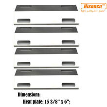 """Hisencn 99351 4pcs/pk 15.375"""" BBQ Parts SS Heat Plate Tent Replacement For Ducane Affinity Series 3073101 3000 Gas Grill Models"""