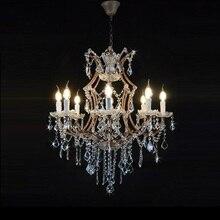 hot deal buy luxury modern crystal chandelier lighting maria theresa crystal k9 wrough iron chandeliers lighting living room bedroom hanging