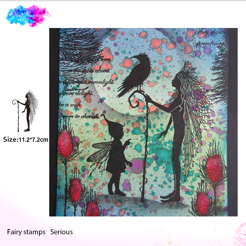 Fairy the oracle Transparent Clear Stamps for DIY Scrapbooking/Card Making/Kids Christmas Fun Decoration Supplies