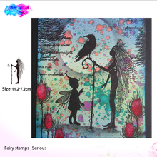 Fairy the oracle Transparent Clear Stamps for DIY Scrapbooking/Card Making/Kids Christmas Fun Decoration Supplies bird cage transparent clear silicone stamps for diy scrapbooking card making kids fun decoration supply