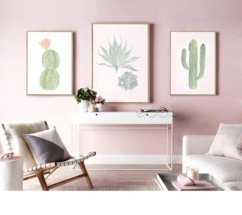 Painting Poster Picture More Detailed Picture About 900d Watercolor Succulent Canvas Art Print
